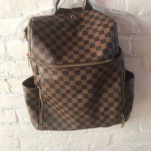 Super cute checkered backpack
